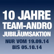 Jubil�umsaktion: 10 Jahre TEAM-ANDRO