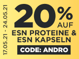 Code andro : 20% auf ESN Proteinpulver Kapseln + 6 (!) GRATIS Isoclear Samples
