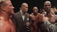 Mr. Olympia 2004 - Ronnie Coleman Vs Jay Cutler Backstage FIGHT ft TRIPLE H